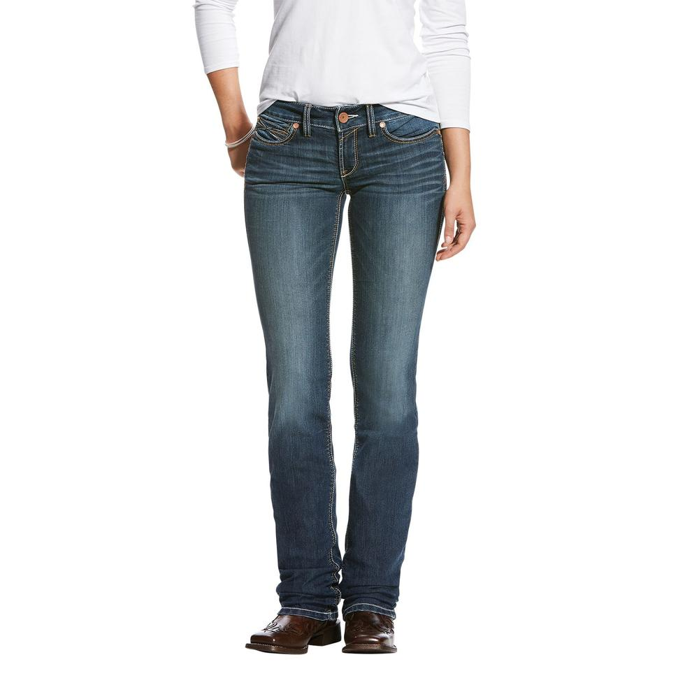 Ariat® Ladies R.E.A.L Straight Handcrafted Low Rise Jean