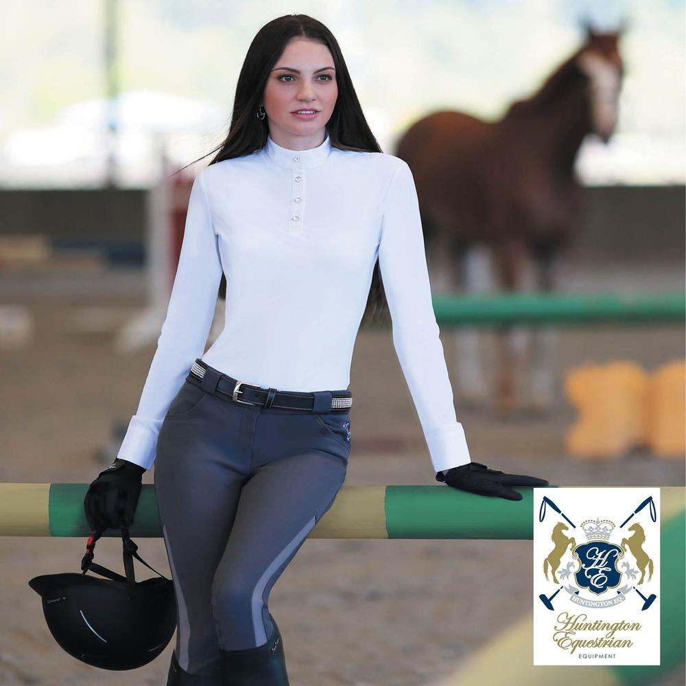 Huntington Equestrian™ Leanne Kwik Dry Long Sleeve Show Shirt