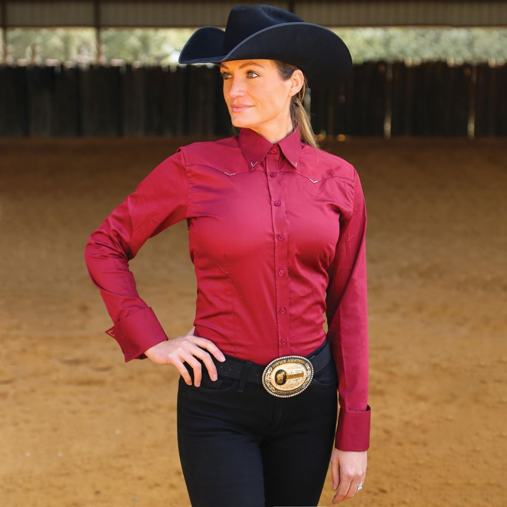 Cowgirl Royalty Women's Crystal Yoke Western Show Shirt