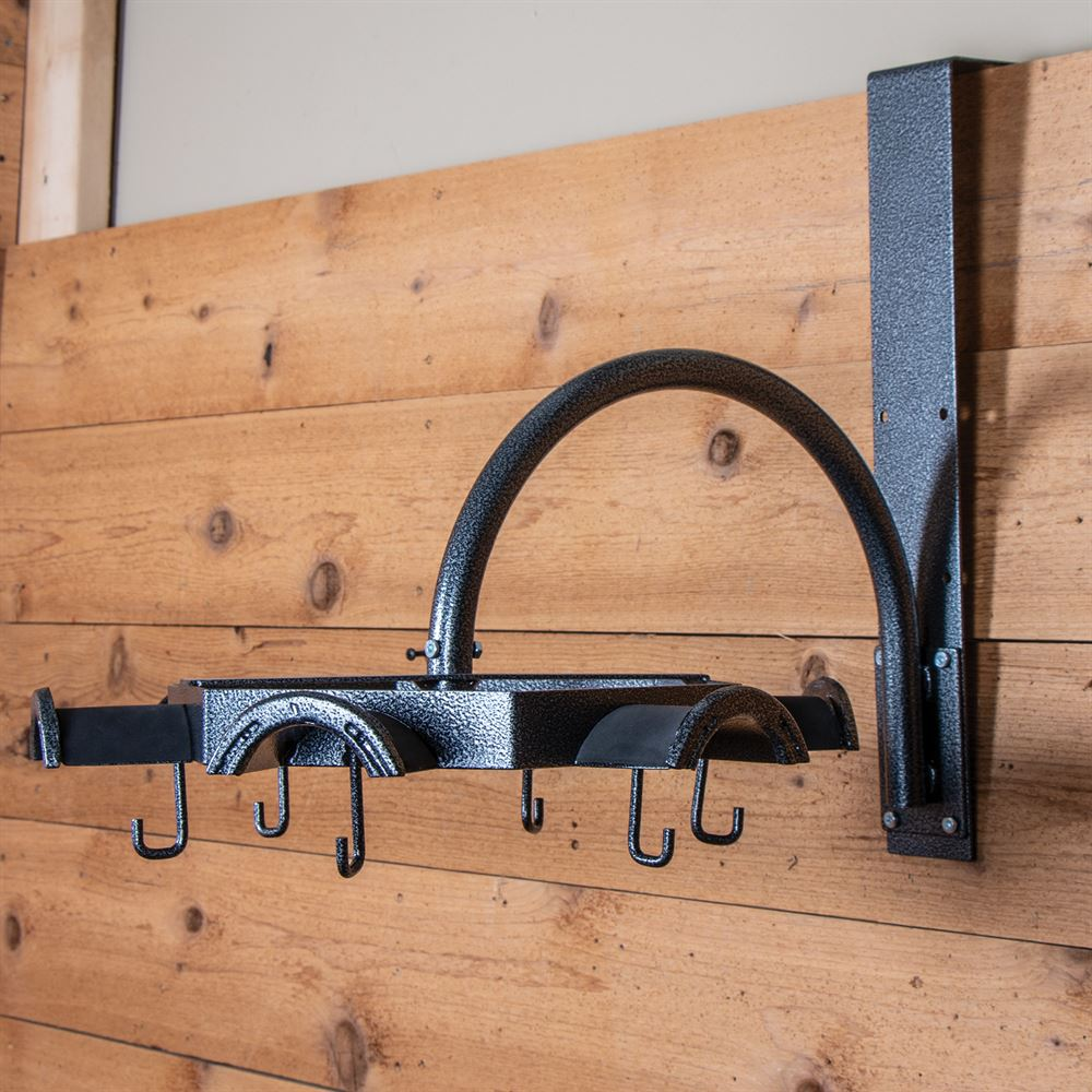 Easy-Up Pro Non-Slip Carousel Tack Rack with Hooks