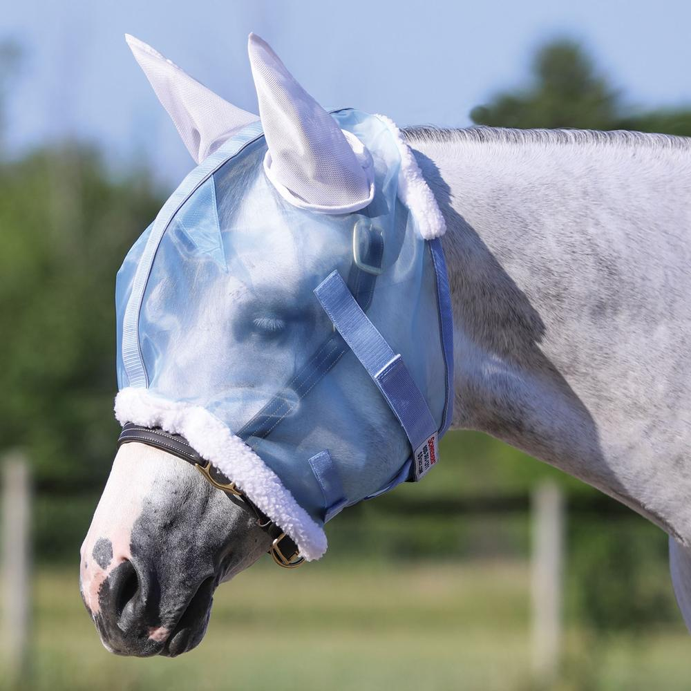 Mosquito Mesh Reflective Fly Mask with Ears