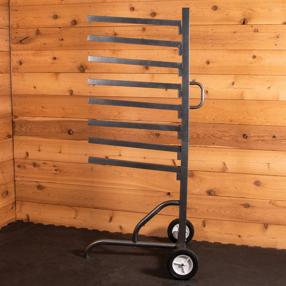 Easy-Up® Pro Series 8 Tier Pad Rack on Wheels