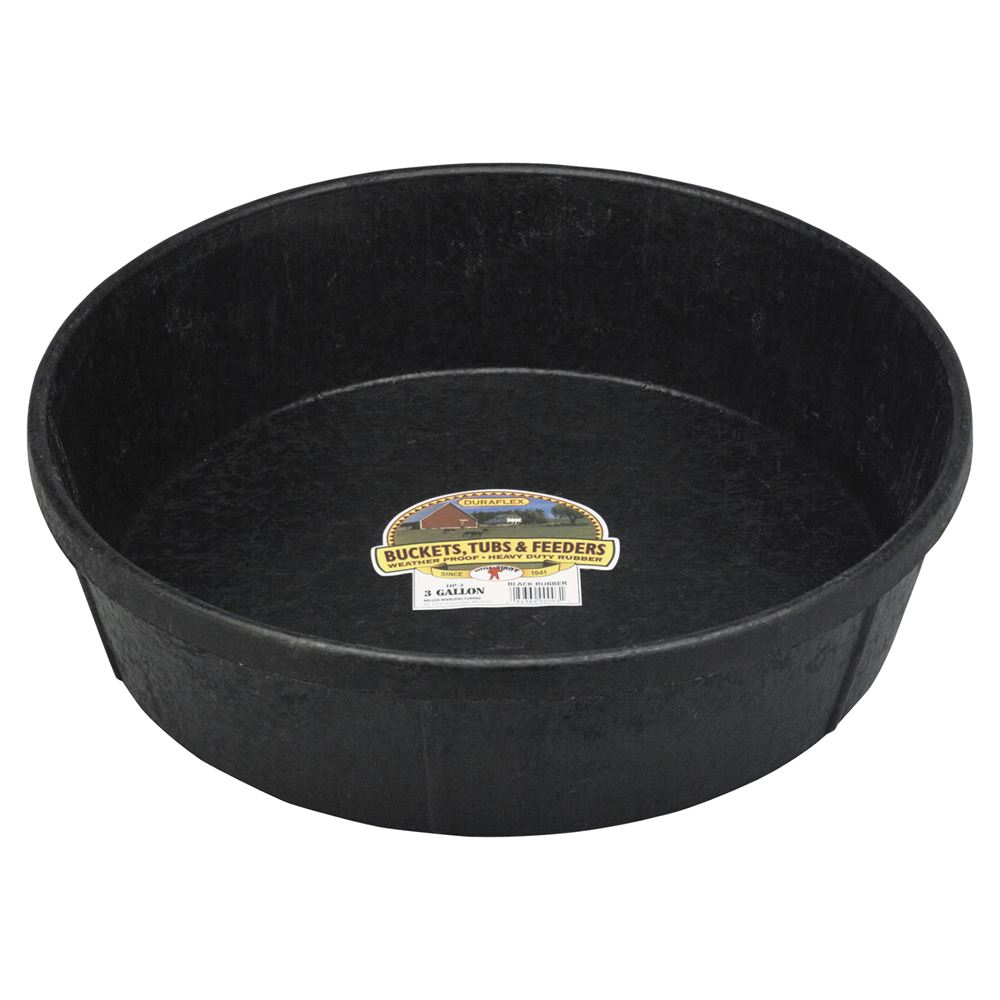 Little Giant Rubber Feed Pan 3 Gallon