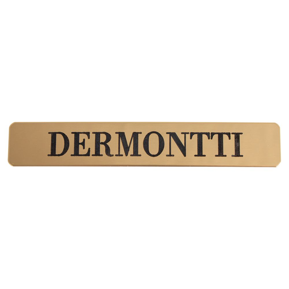 "Stick-On Brass Rectangle Name Plate 3/4"" W x 4 1/2"" L"