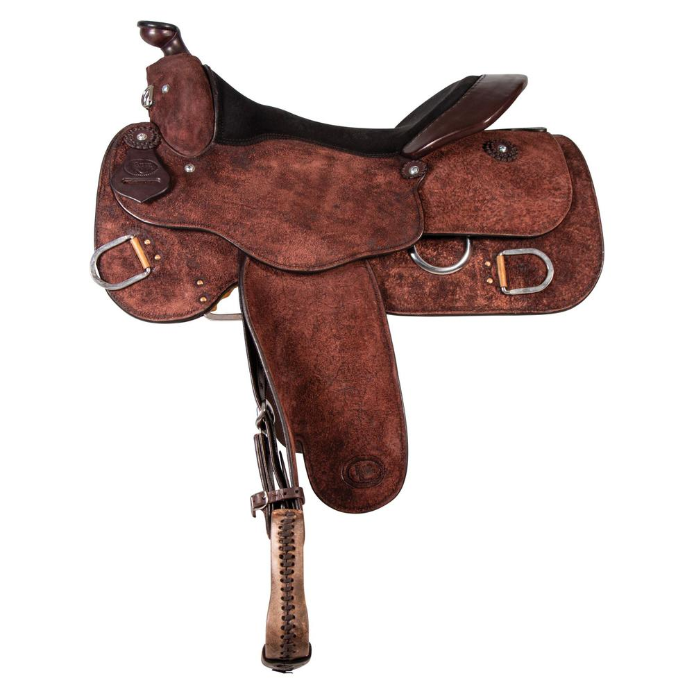 Billy Royal® Chocolate Roughout Classic Work Saddle