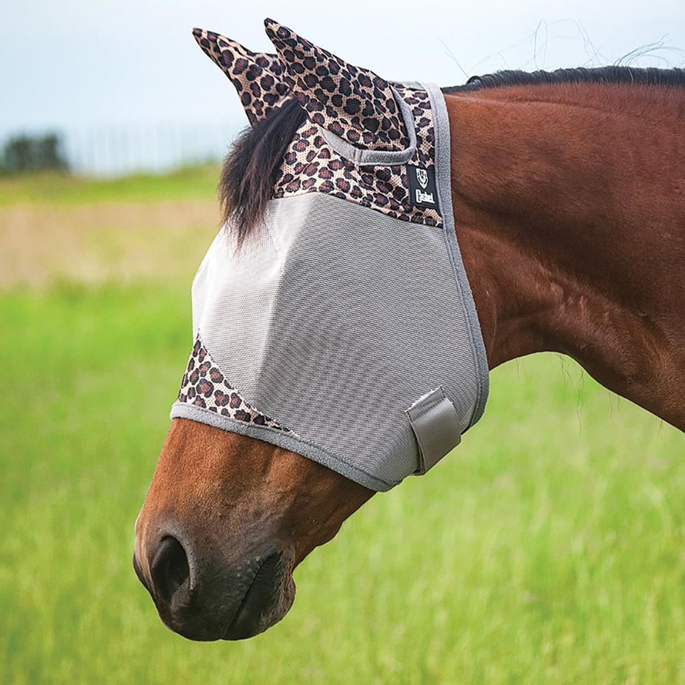 Cashel Leopard Print Fly Mask with Ears