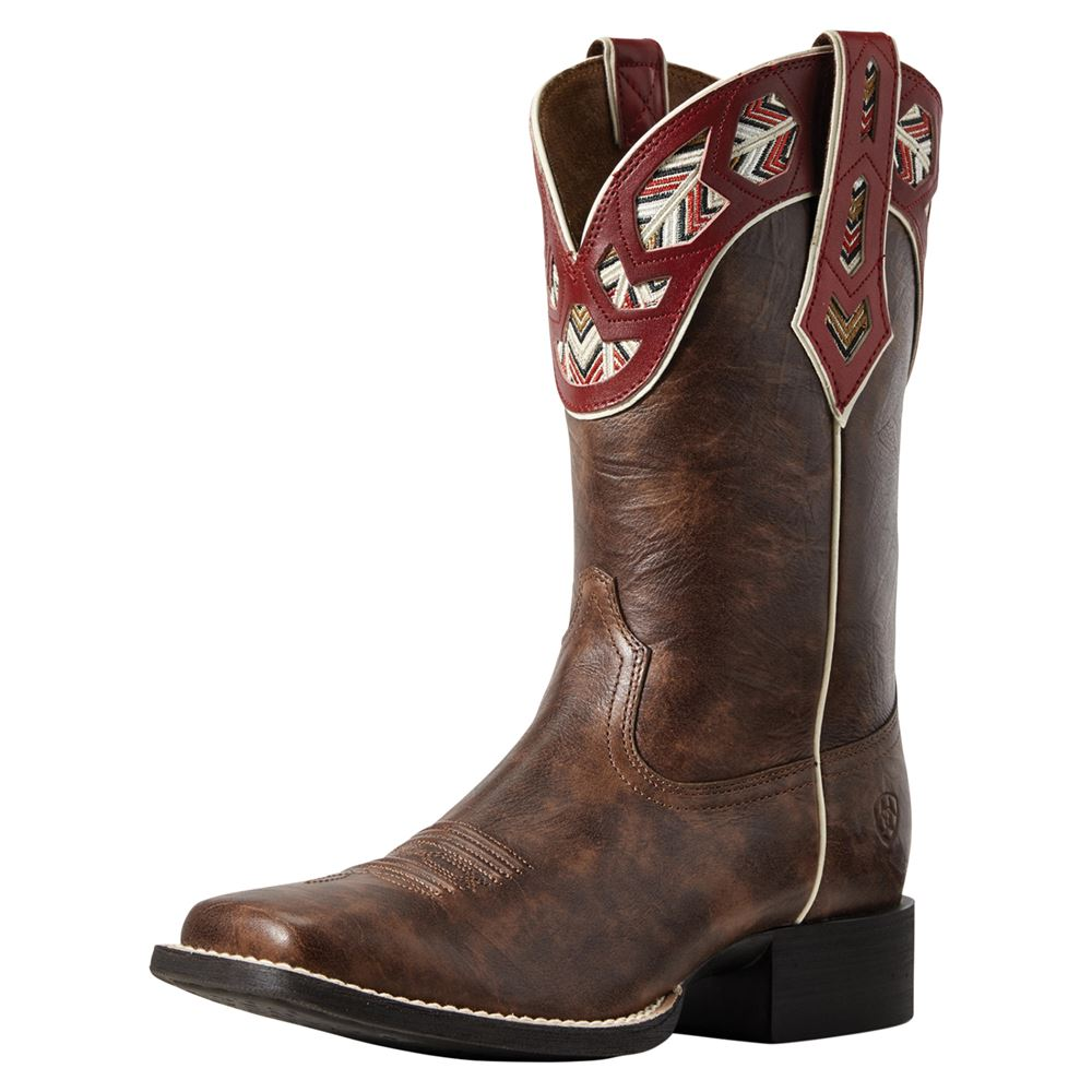 Ariat® Ladies Round Up Monroe Church Brown Western Boots