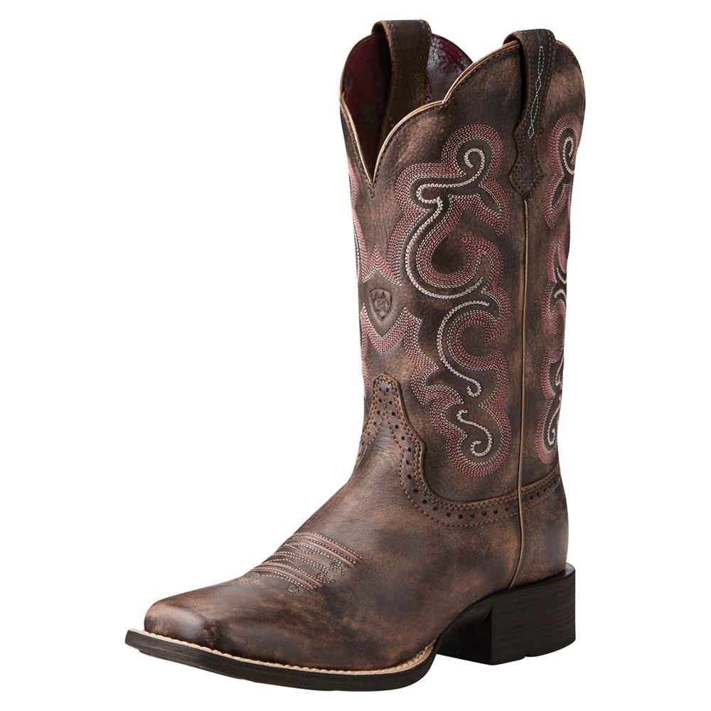Ariat® Ladies Quickdraw Chocolate Western Boots