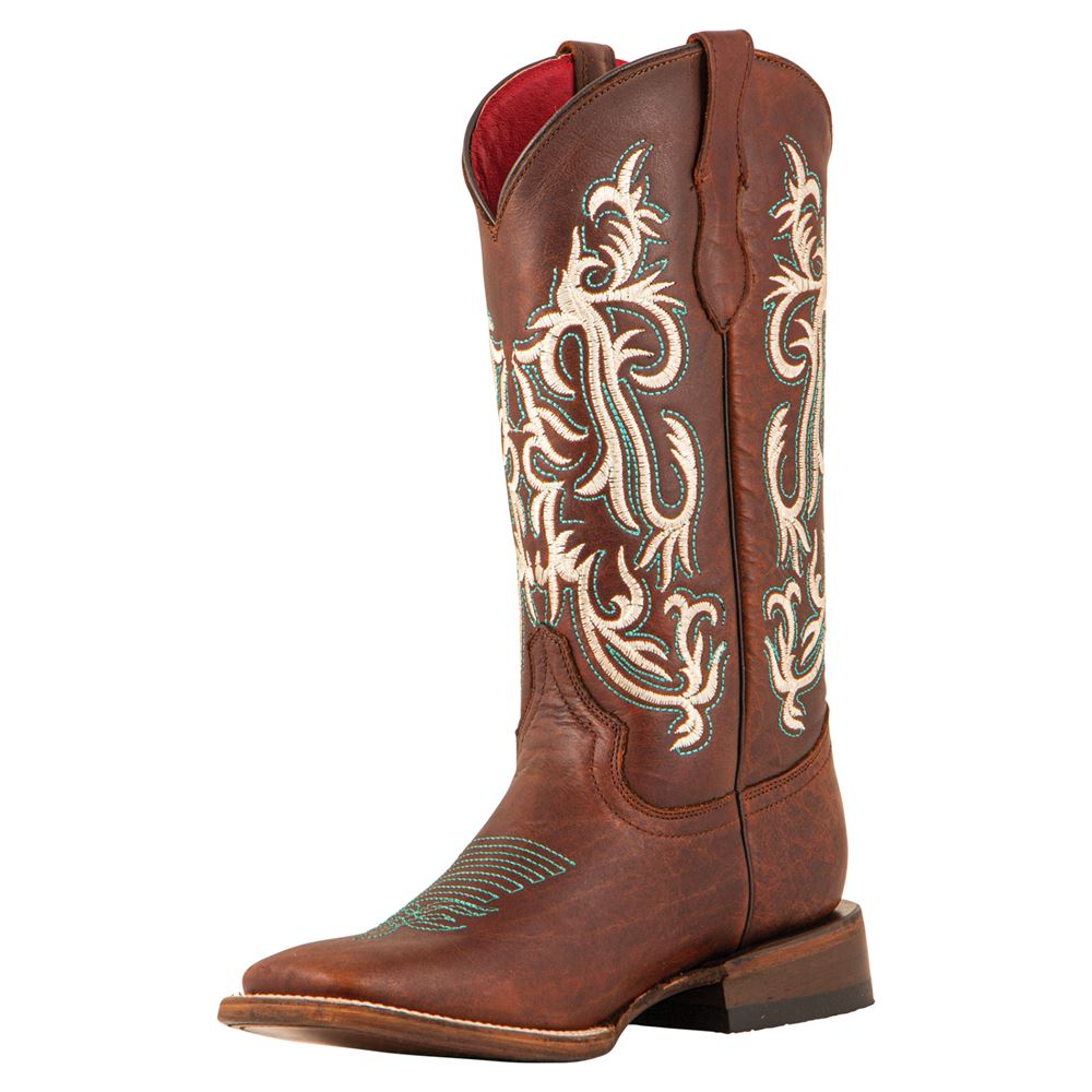 Ferrini Ladies Roan Chocolate Western Boots