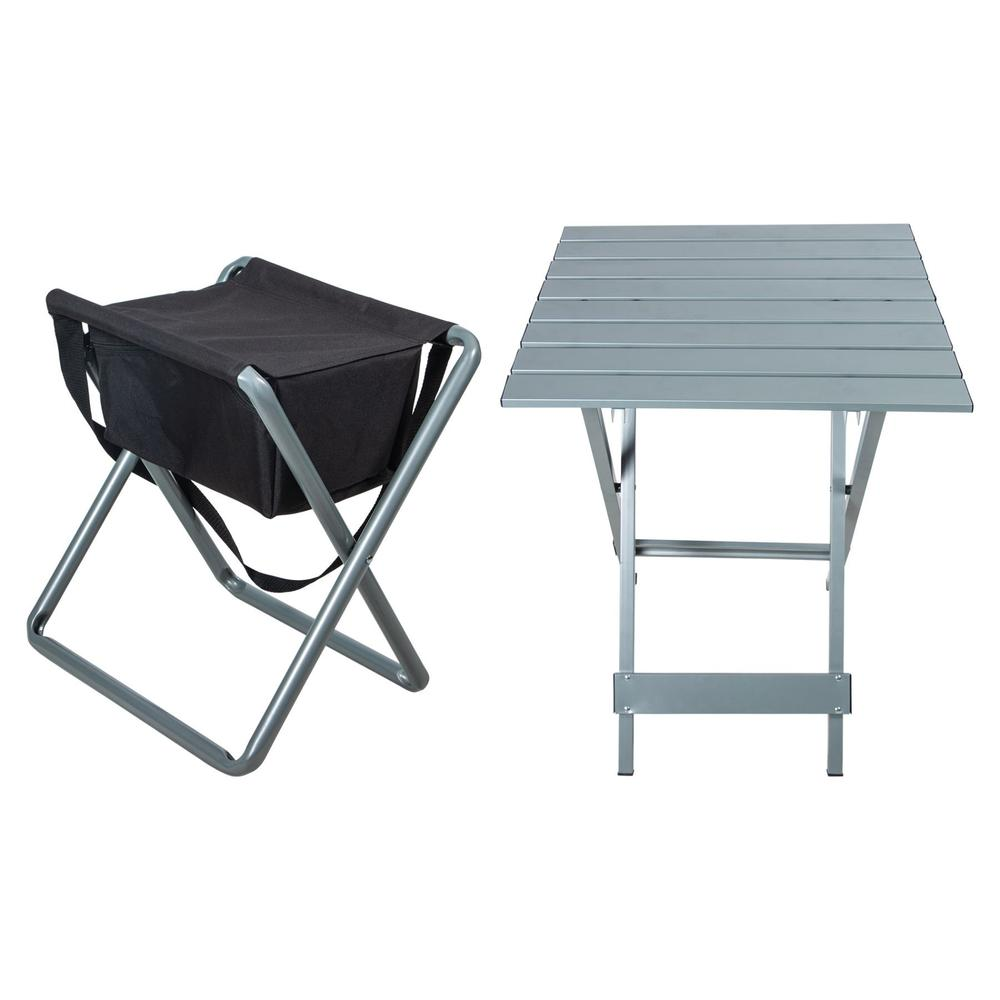 Dura-Tech® Folding Stool With Table Bundle