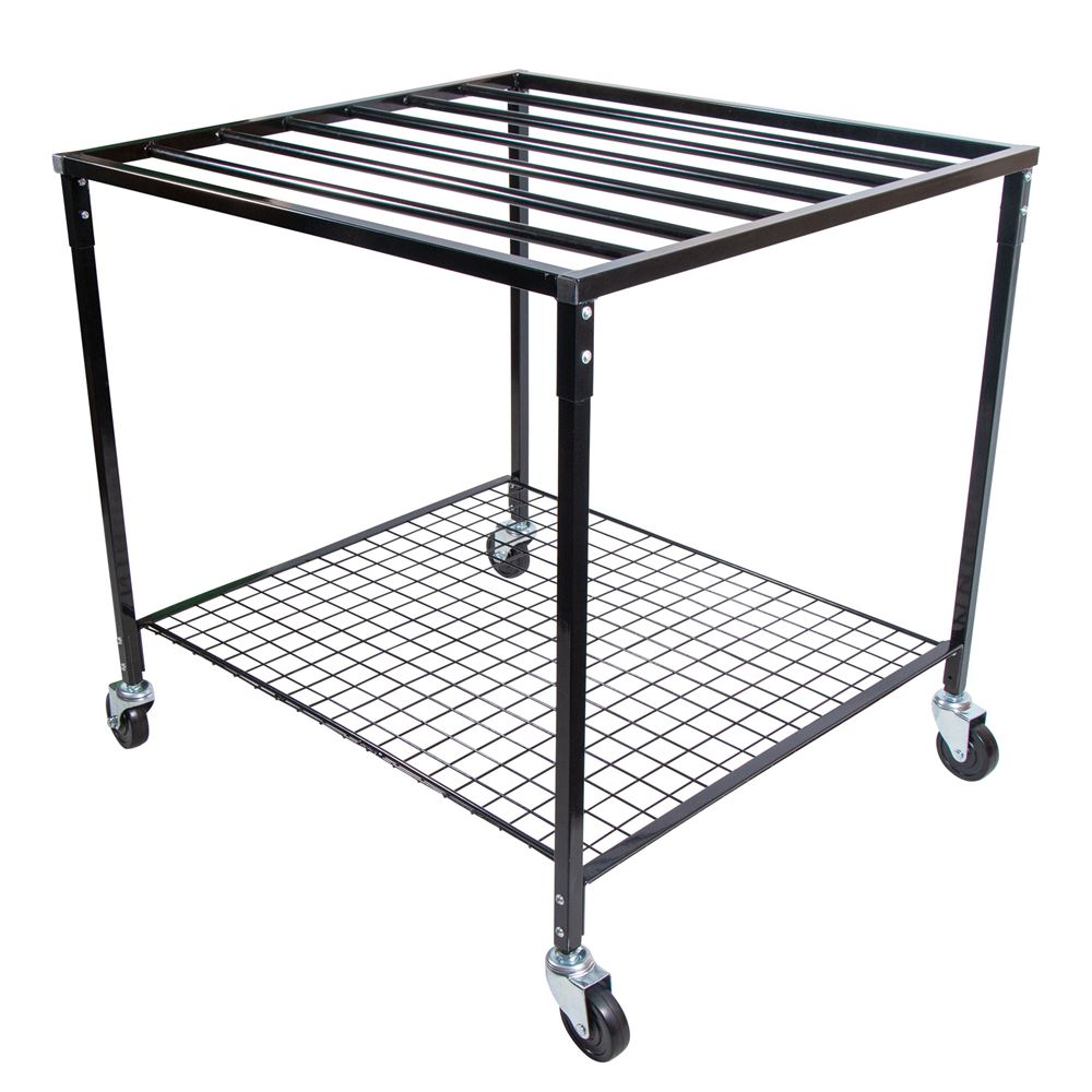 Easy-Up® Pad rack and shelf on wheels