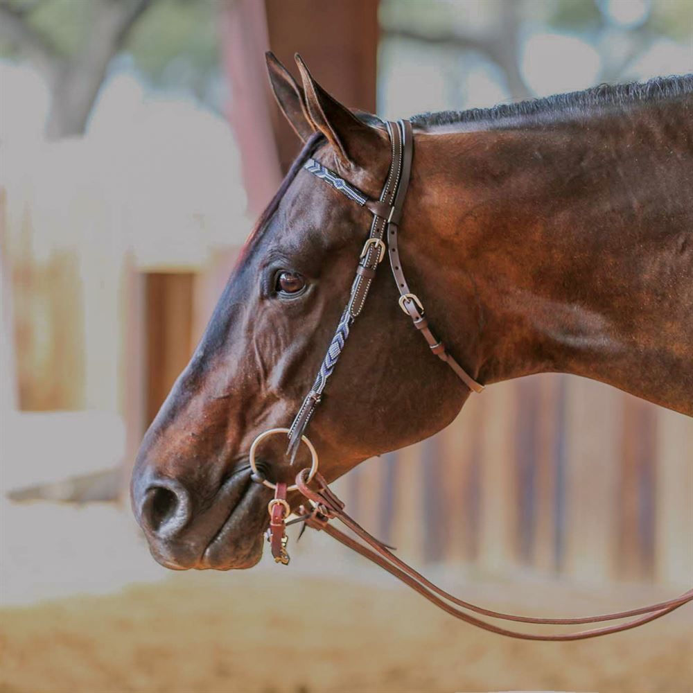 Double S Beaded Browband Headstall