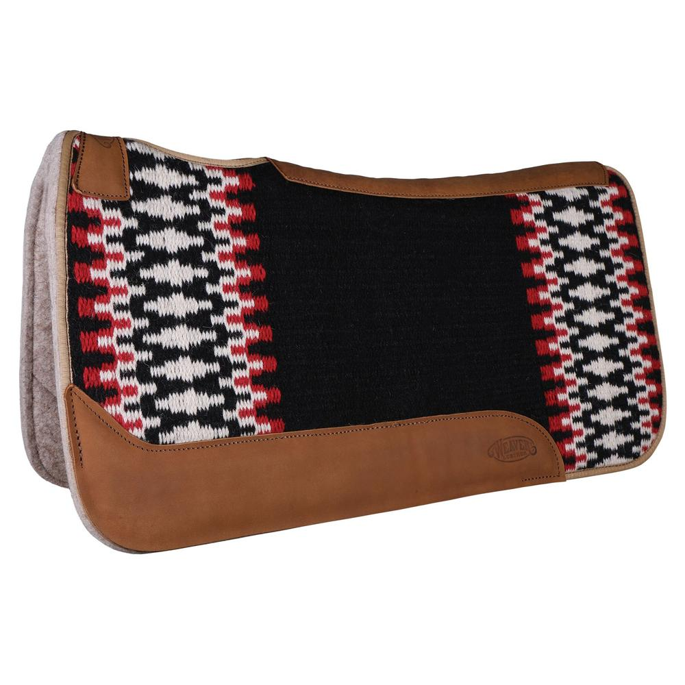 Weaver New Zealand Wool Saddle Pad with Leather
