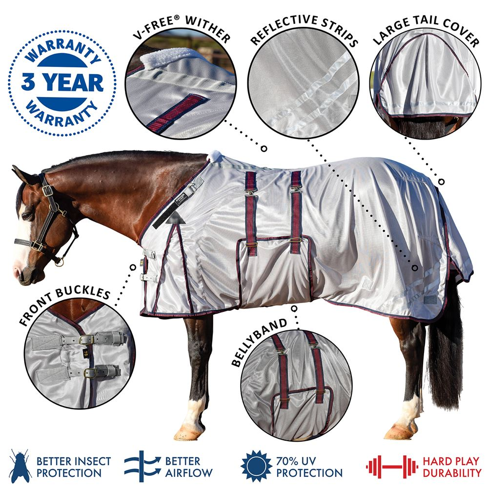 RipGuard™ Fitted V-Free OF Bellyband Fly Sheet