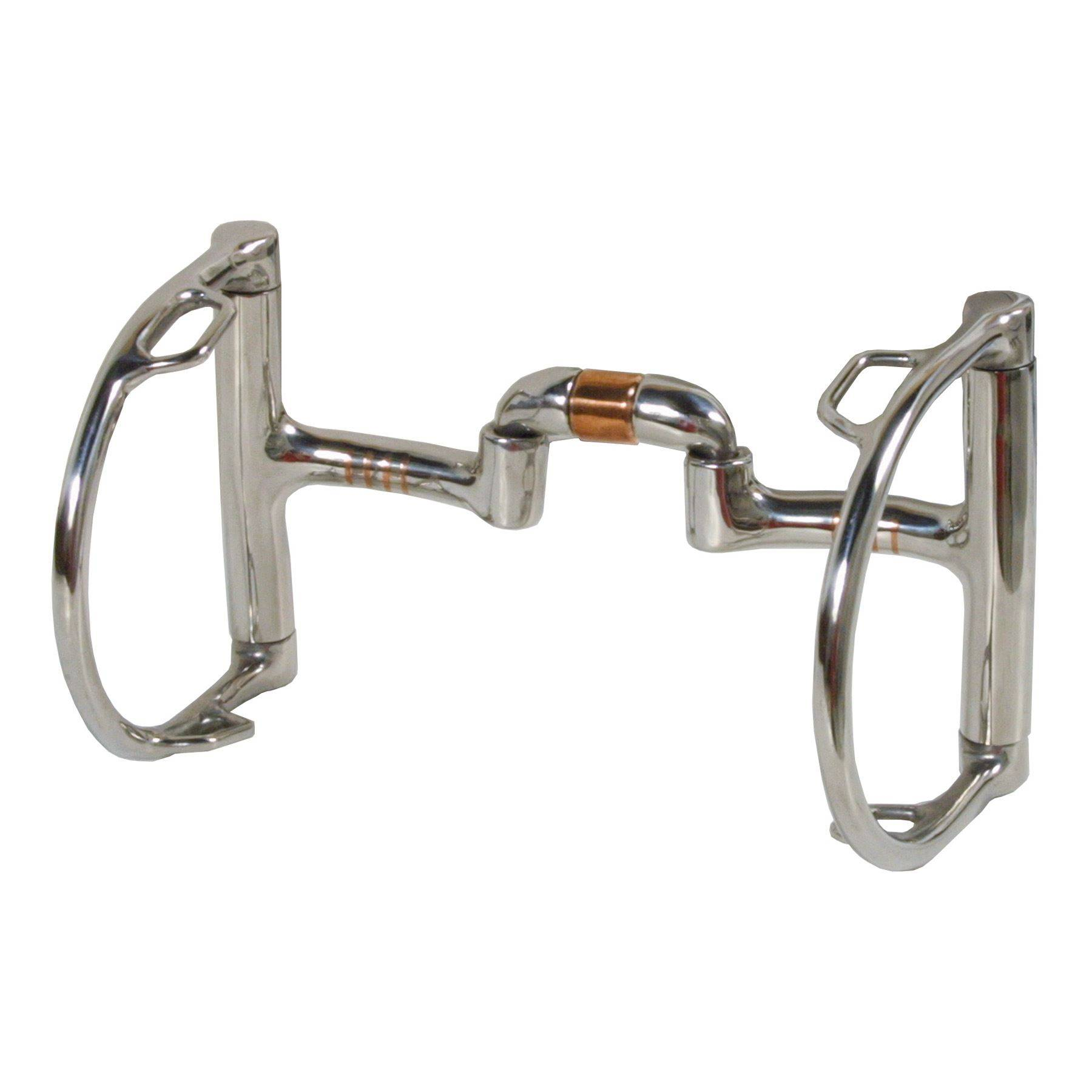 Loose Ring Western With Barell Joint and Copper Rollers Stainless Steel Horse