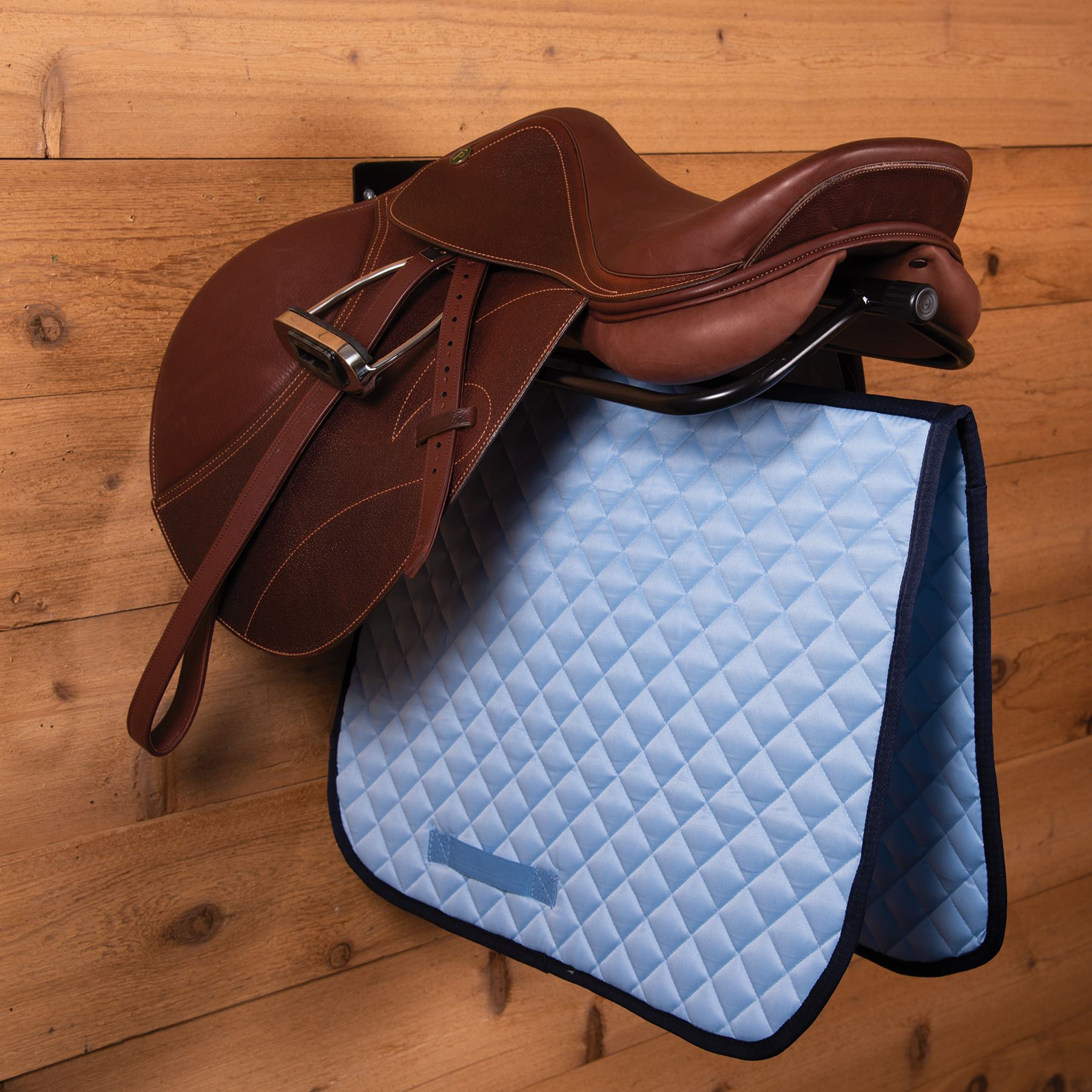Easy-Up® Wall Mount Saddle Rack with Pad Bar
