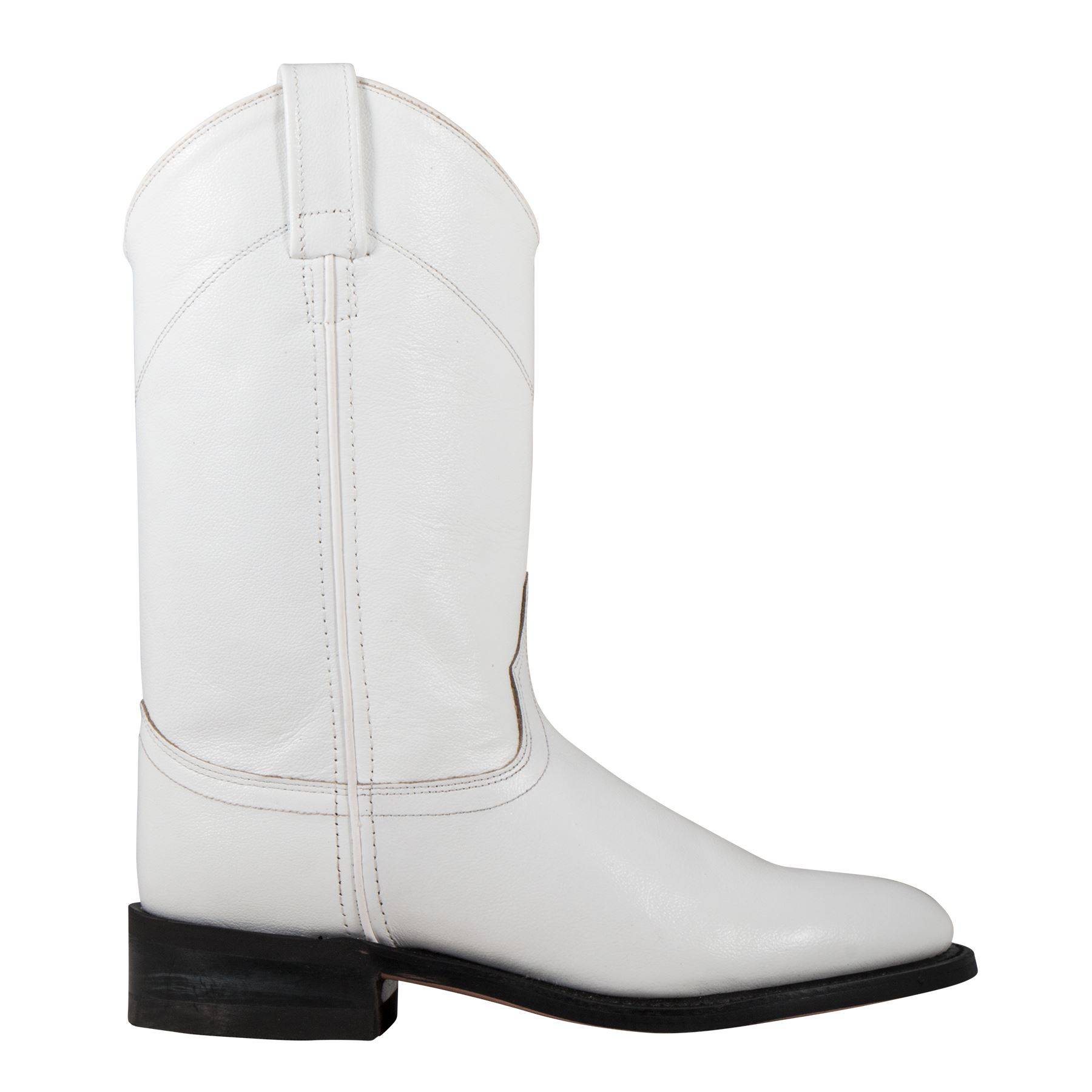 Old West White Dyeable Leather Roper
