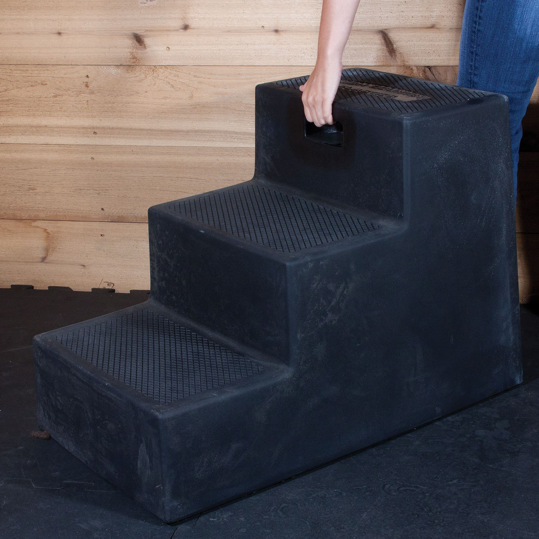 High Country Plastics 3-Step Equestrian Mounting Block Free Local Pickup