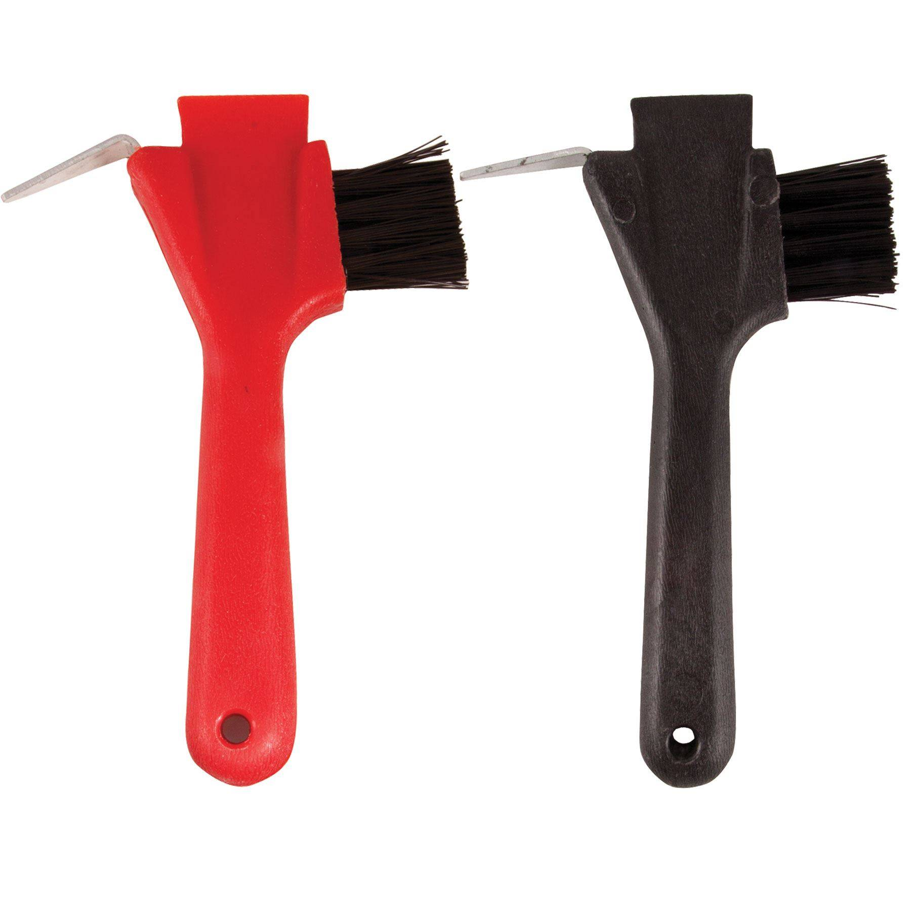 Hoof Pick Brush Combination Lot of Two Red