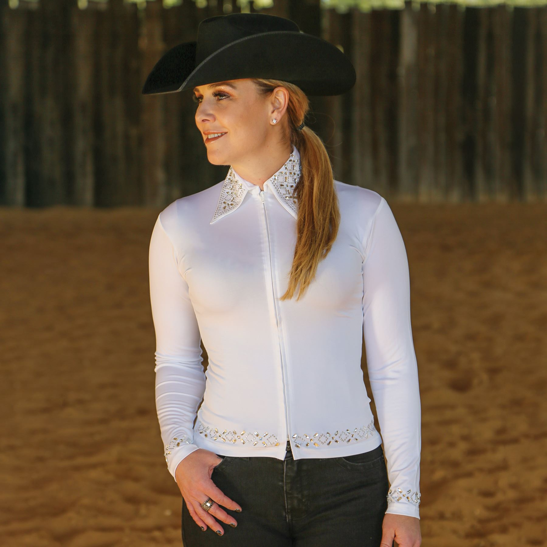 1b0ece830d175 Cowgirl Royalty Ladies Arena Western Show Shirt