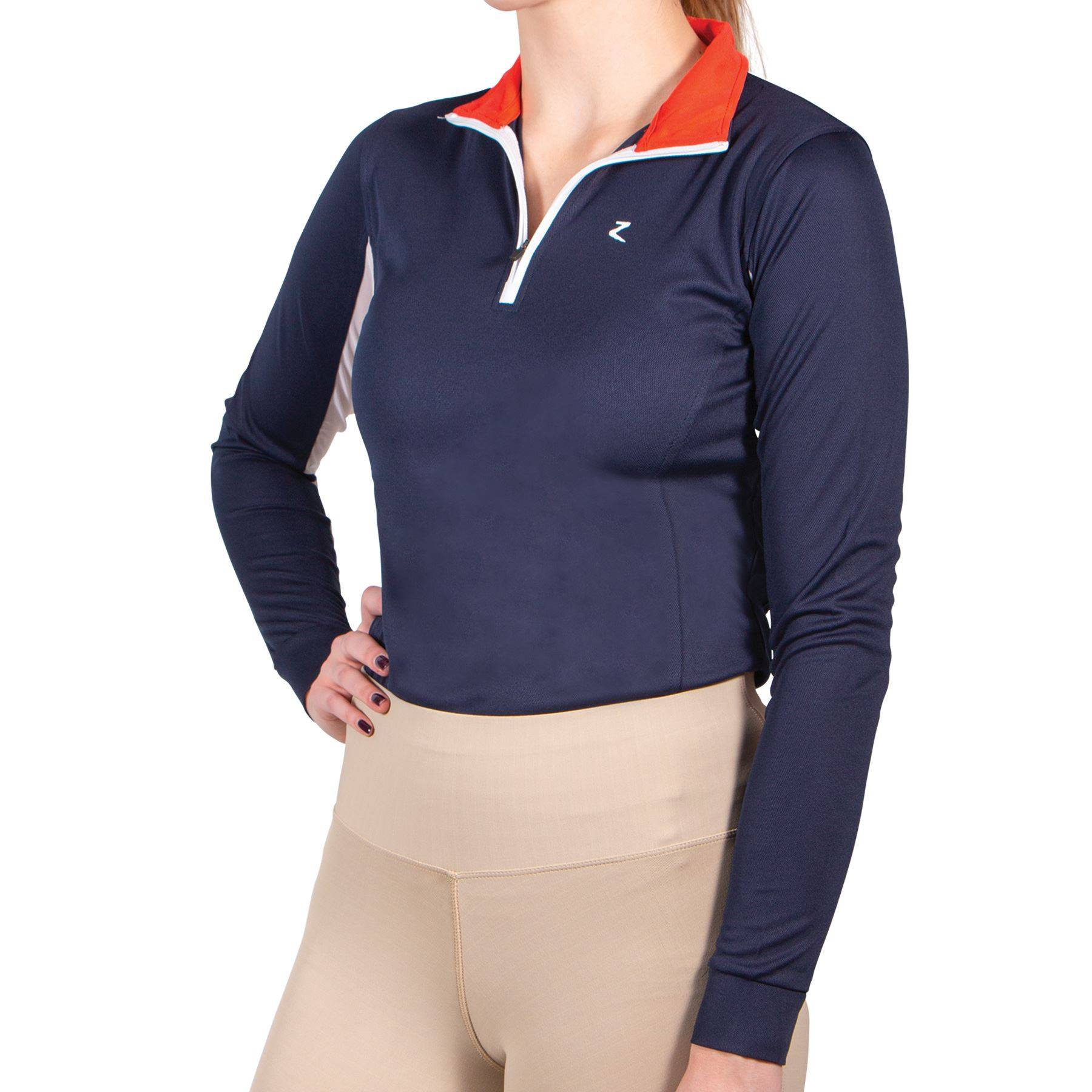 Horze Taylor Womens Quick Dry UV Sun Show Shirt with Convertible Collar