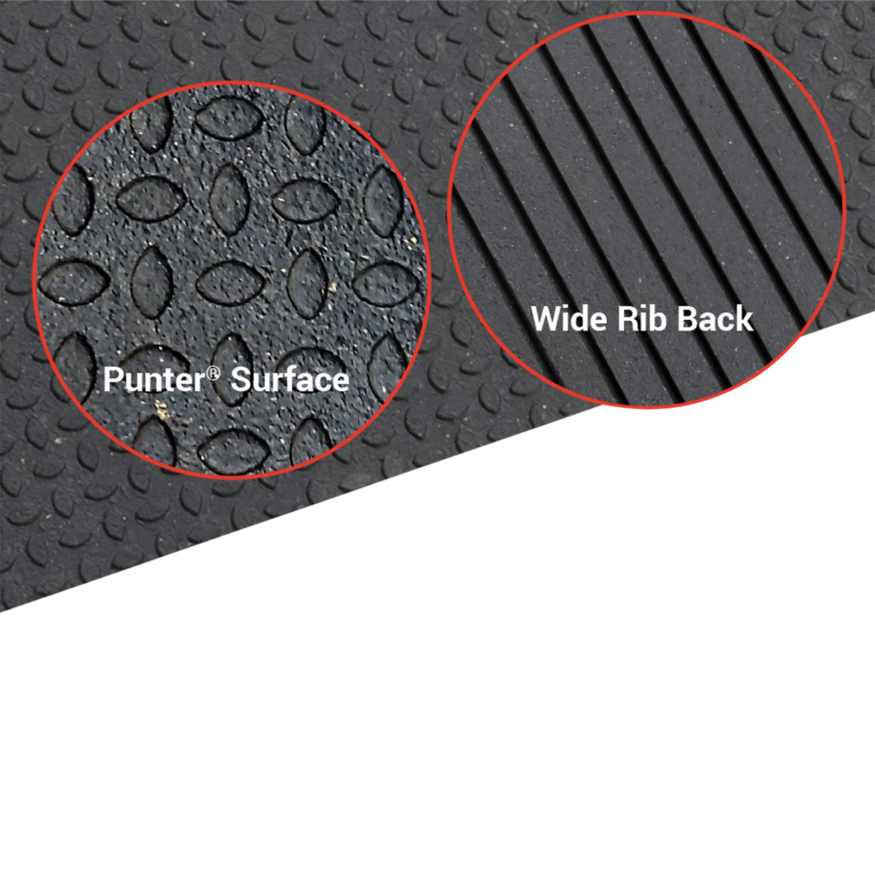 Smooth or Diamond Surface Rubber Mat Flooring 4 x 6 x 3//4 for Gym or Equine Stall Non-Slip Indestructible Heaviest Duty The Standard